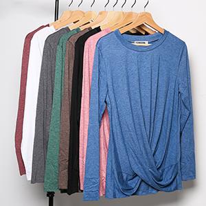 Long Sleeve Tunic Tops Women