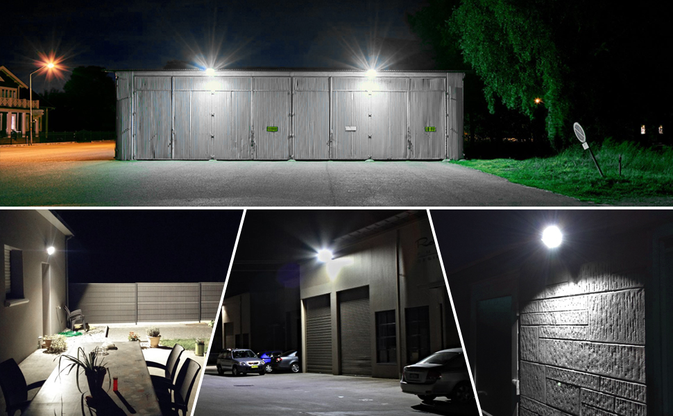 Sportplatz oder Hotel 64000017-DW Garage ideale Wandleuchte f/ü r Garten MEIKEE 10W LED Strahler mit Bewegungsmelder 1000 LM superhell LED Fluter IP66 wasserdicht Au/ß enstrahler Flutlichtstrahler