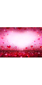 Romantic Red Love Heart Photography Backdrop 7x5ft Polyester  Banner