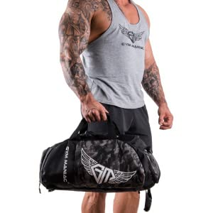 Gym Maniac GM duffel bag