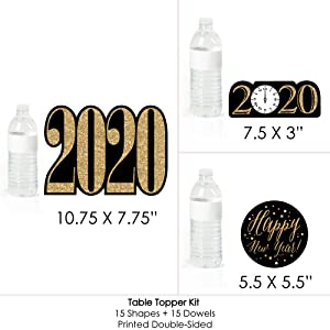 New Years Eve Gold Set of 15 2020 New Years Eve Party Centerpiece Sticks Table Toppers