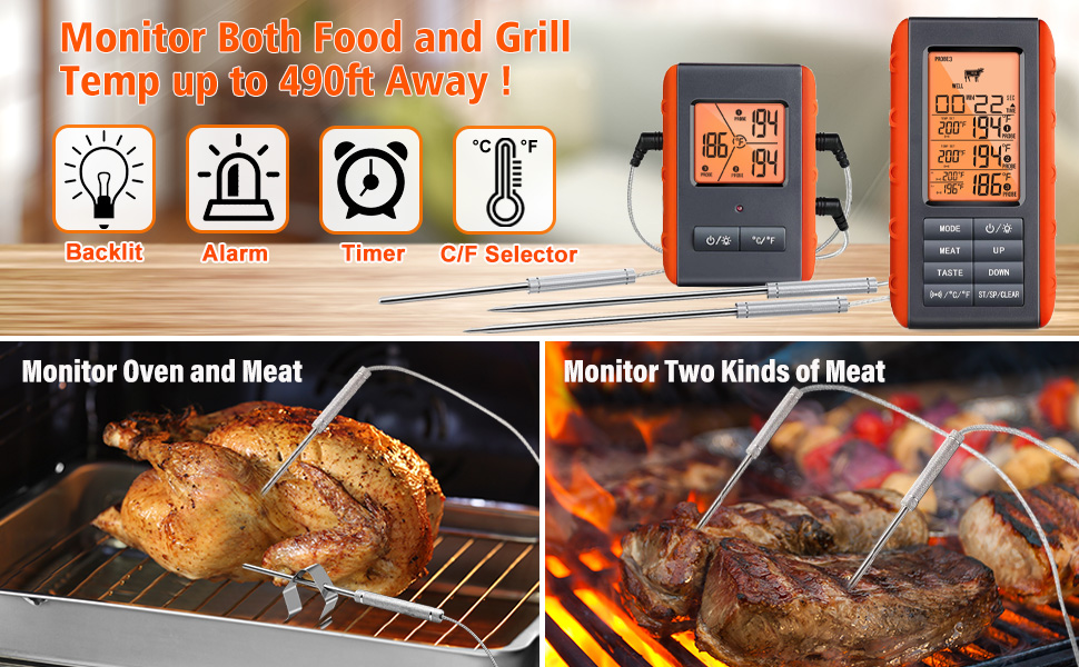 digital meat thermometer for cooking