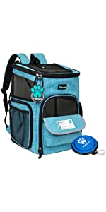 Deluxe Pet Carrier Backpack 4 Sided Entry