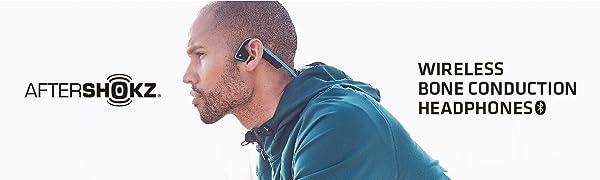 AfterShokz Trekz Titanium Open-Ear Wireless Bone Conduction Headphones