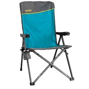 Uquip Justy Silla de Camping Plegable con apoyabrazos y Respaldo Ajustable