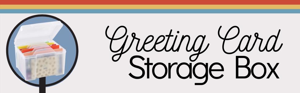 greeting card storage box organize photos organize mail organize cards
