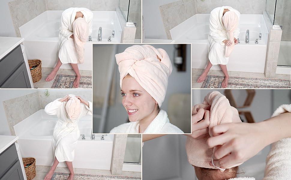 microfiber Hair towel wrap quick dry