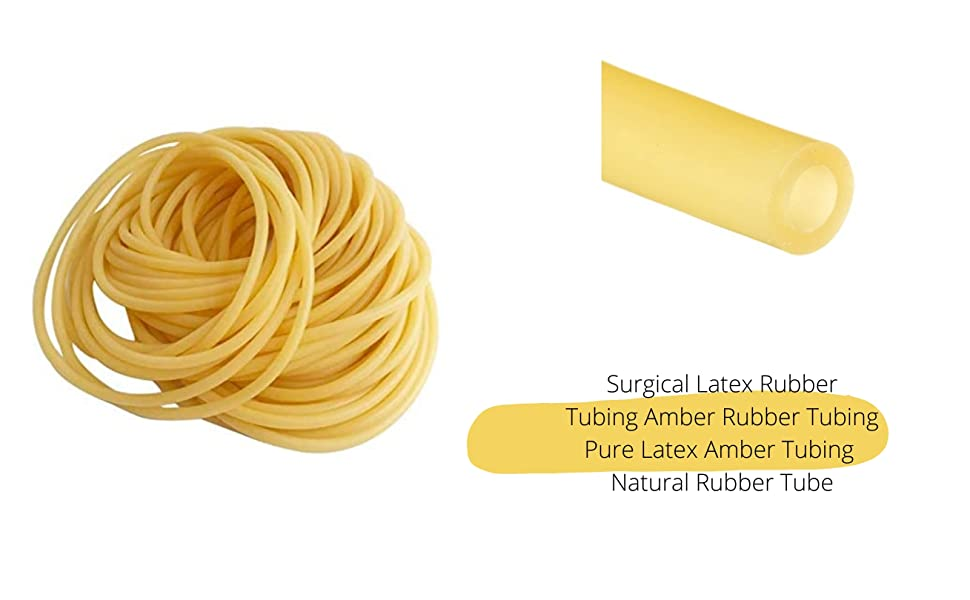 Surgical Latex Rubber Tubing Amber Rubber Tubing, Pure Latex Amber Tubing Natural Rubber Tube