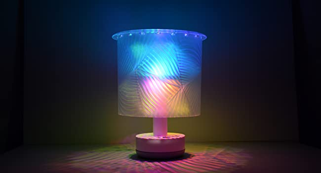 Translucent customizable mood shade deluxe party lamp kit LED flashing light projection patterns