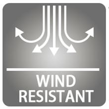 Cálido y resistente al viento