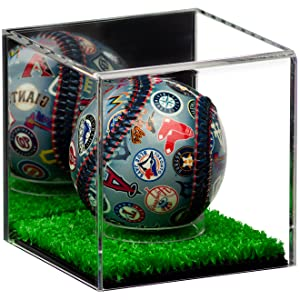 Collectible Signed Baseball Sport Memorabilia Turf Floor Clear Acrylic Display Case Showcase