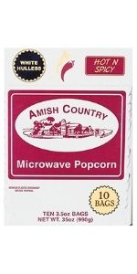Baby White Hulless hot spicy microwave popcorn