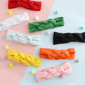 6-12 Pack Baby Girl Cute Headband Headwraps Elastic Bunny Ears Hair Band Holder8