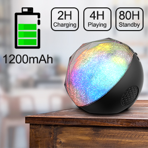 Bluetooth Speakers, VersionTECH. Mini Portable LED Colorful Wireless Loud Stereo Sound Speaker