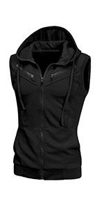 Zipper Hoodie Vest