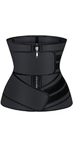 Zipper Waist Trainer with 2 Belts