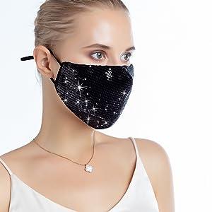 Sequin Face Mask for Women - Fancy Face Mask 1pcs Silver Sequin Mask - Fancy  Mask Glitter Face Mask
