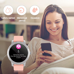 Smart Watch Fitness Tracker Watch with Women's health Monitor for android phones iphone compatible
