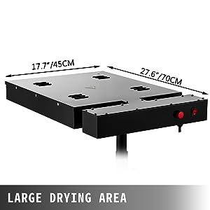 VEVOR Secador para Impresión de Pantalla 1700W 16x16, Secador de Máquina de Serigrafía 1700W 16x16, Secadora para Máquina de Impresión en Forma de X, 110 V / 60 Hz, Altura Ajustable: Amazon.es: Hogar