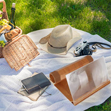 Outdoor use of screen magnifier