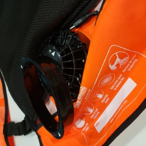 Removable fan pouch simply twist and unlock