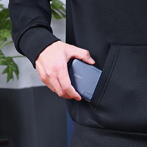 sleek and portable