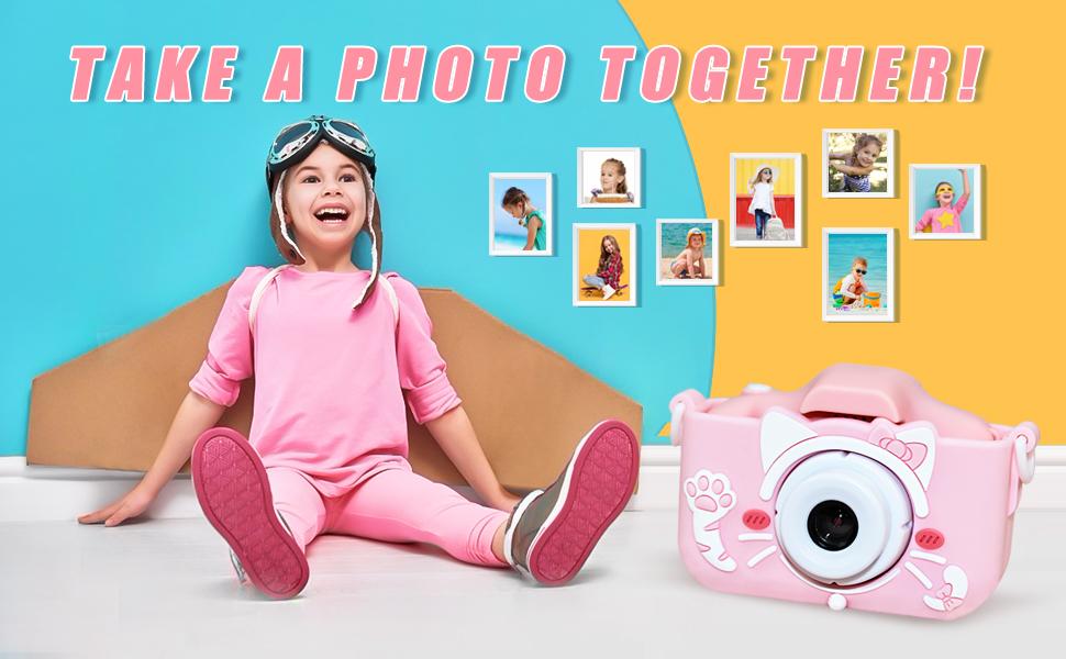 Upgrade Kids Selfie Camera, Best Birthday Gifts for Boys Age 3-9, Digital Video Cameras for Toddler