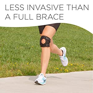 the short knee brace is less invasive than traditional knee braces