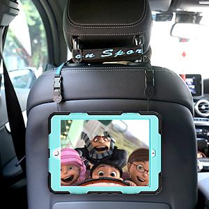 iPad 7 Case with Hybrid Protection Adjustable/Detachable Shoulder/Hand Strap