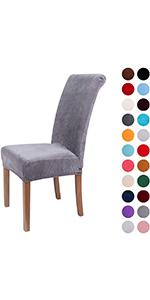 Grey Velvet Chair cover