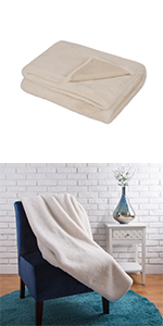 """50""""*60"""" Faux Fur Throw/Blanket, Coconut Milk (Face Fabric  800gsm; Back 180gsm)"""