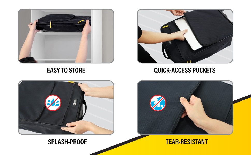 Travel Ready 4-Wheel Collapsible Cabin Luggage Key Points Easy to Store Quick Access Pockets Water