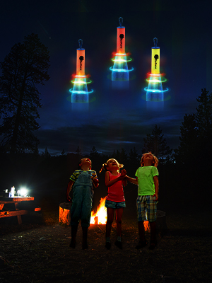 rocket in camping