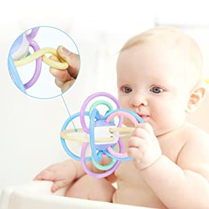 Combines exercise for young hands, gums, and teeth Age: 3 months and above; BPA Free