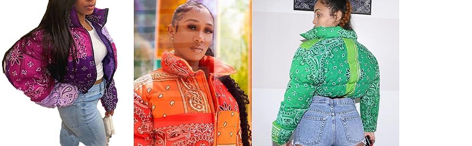 Women bandana jacket