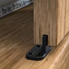 super mini barn door hardware with floor guide