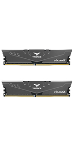 TEAMGROUP T-Force Vulcan Z DDR4 16GB Kit (2 x 8GB) 3200MHz (PC4 25600) CL16 Gray