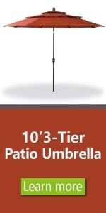 3 tier umbrella red