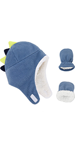 Baby Winter Hats Mittens Toddler Fleece Hat