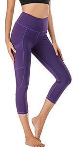 Purple yoga capris