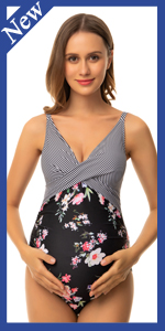 Maternity Front Cross Swimsuits