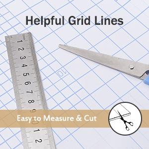 Helpful Grid Lines & Easy Installation