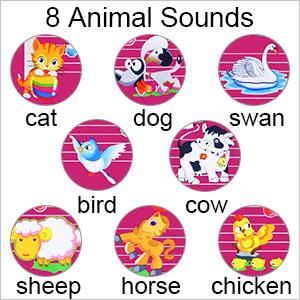 8 animal sounds mat