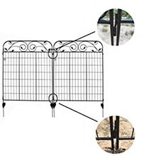 Ashman Online Garden Fence 44in x 6ft - Outdoor Rustproof Metal Landscape Fencing Wrought