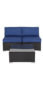 armless sofas