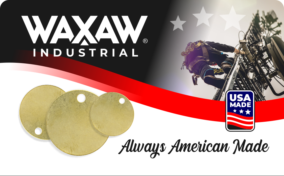 WAXAW Brass Stamping tags blank round chit solid marking tags header