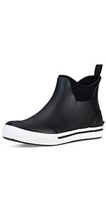 TENGTA Men's Waterproof Ankle Deck Boots