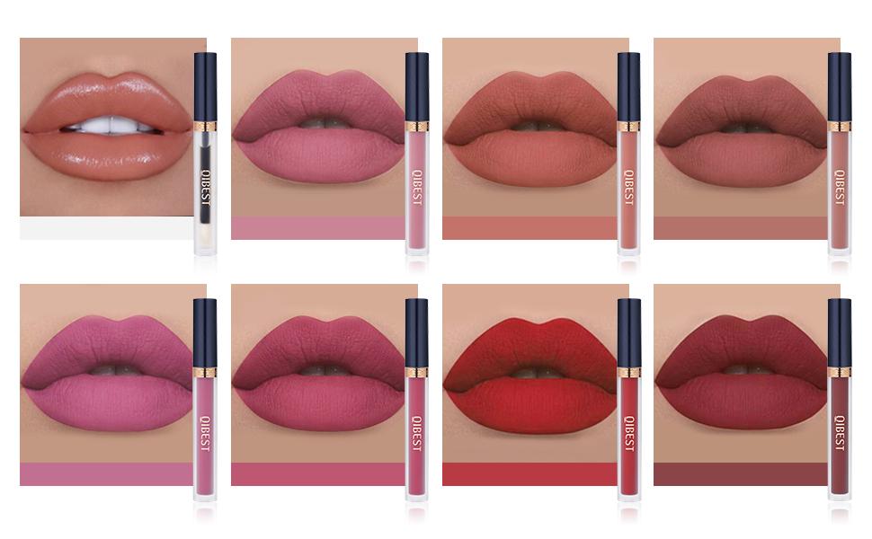 Liquid lipstick lip looks
