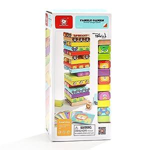 Nene Toys - Torre de Bloques Infantil de Madera 4 en 1 con