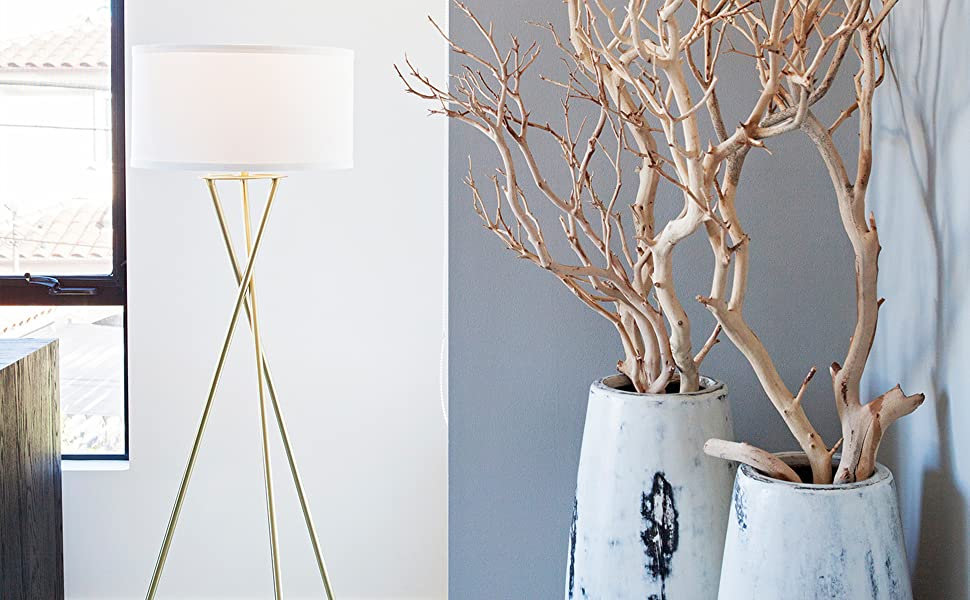 Brightech Jaxon Tripod LED Floor Lamp – Mid Century Modern